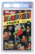 Golden Age (1938-1955):Funny Animal, Jamboree Comics #1 (Round, 1946) CGC NM 9.4 Cream to off-whitepages....