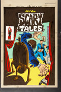 Original Comic Art:Miscellaneous, Scary Tales #5 Cover Hand-Colored Production Art (Charlton,1976)....