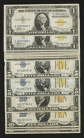 Small Size:World War II Emergency Notes, North Africa Silver Certificates. Fine or Better.. ... (Total: 13 notes)