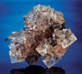 Minerals:Museum Specimens, WATER-CLEAR FLUORITE ON PYRRHOTITE. ...