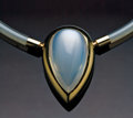 Gems:Jewelry, FINE MOONSTONE PENDANT. ...