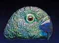 Lapidary Art:Carvings, CARVED LABRADORITE PARROT HEAD. ...