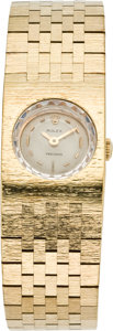Timepieces:Wristwatch, Rolex Lady's Gold Bracelet Wristwatch, circa 1950's. ...
