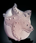 Lapidary Art:Carvings, ROSE QUARTZ STARFISH. ...