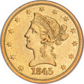 Liberty Eagles, 1845-O $10 AU53 NGC....