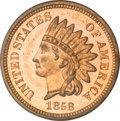 Patterns, 1858 P1C Indian Cent, Judd-212, Pollock-263, R.4, PR64 Cameo PCGS.Eagle Eye Photo Seal, Card Included....