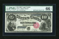 Large Size:Legal Tender Notes, Fr. 111 $10 1880 Legal Tender PMG Gem Uncirculated 66 EPQ....