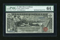 Large Size:Silver Certificates, Fr. 224 $1 1896 Silver Certificate PMG Choice Uncirculated 64 EPQ....