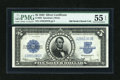 Large Size:Silver Certificates, Fr. 282 $5 1923 Silver Certificate PMG About Uncirculated 55 EPQ....
