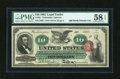 Large Size:Legal Tender Notes, Fr. 95b $10 1863 Legal Tender PMG Choice About Unc 58 EPQ....