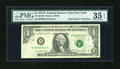 Error Notes:Foldovers, Fr. 1910-B $1 1977A Federal Reserve Note. PMG Choice Very Fine 35EPQ.. ...