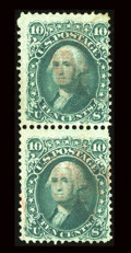 Stamps, #96, 1867, 10c Yellow Green. (Used)....