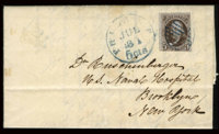#1a, 1847, 5c Dark Brown. (Used)
