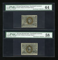 Fractional Currency:Second Issue, Fr. 1244 10c Second Issue PMG Choice About Unc 58. Fr. 1244 10c Second Issue PMG Choice Uncirculated 64.. ... (Total: 2 notes)