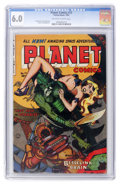 Golden Age (1938-1955):Science Fiction, Planet Comics #72 (Fiction House, 1953) CGC FN 6.0 Off-white towhite pages....