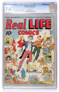 Golden Age (1938-1955):Non-Fiction, Real Life Comics #1 (Nedor Publications, 1941) CGC VF- 7.5Off-white pages....