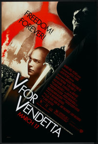 """V for Vendetta (Warner Brothers, 2005). One Sheet (27"""" X 40"""") SS. Action"""