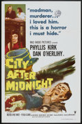 "Movie Posters:Mystery, City After Midnight (RKO, 1959). One Sheet (27"" X 41"") and LobbyCards (5) (11"" X 14""). Mystery.. ... (Total: 6 Items)"