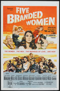 """Movie Posters:War, Five Branded Women (Paramount, 1960). One Sheet (27"""" X 41"""") andPressbook (12"""" X 15""""). War.. ... (Total: 2 Items)"""