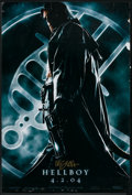 """Movie Posters:Fantasy, Hellboy (Columbia, 2004). Autographed One Sheet (27"""" X 40"""").Advance. Fantasy.. ..."""