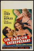 "Movie Posters:Drama, Glenn Ford Lot (Various, 1951-1956). Belgian Posters (5) (14"" X22""). Drama.. ... (Total: 5 Items)"