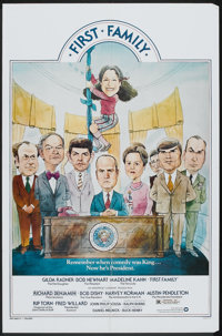 """First Family (Warner Brothers, 1980). One Sheet (27"""" X 41"""") and Lobby Card Set of 8 (11""""X 14""""). Come..."""