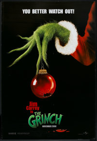 "How the Grinch Stole Christmas (Universal, 2000). One Sheet (27"" X 40"") DS Advance. Family"