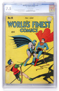 Golden Age (1938-1955):Superhero, World's Finest Comics #19 (DC, 1945) CGC VF- 7.5 Off-white pages....