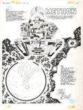 Original Comic Art:Splash Pages, Jack Kirby and D. Bruce Berry DC Graphic Novel #4 The HungerDogs New Gods Metron Splash Page 64 Original Art (DC,...
