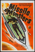 "Movie Posters:Science Fiction, Missile Monsters (Republic, 1958). One Sheet (27"" X 41"")Flat-Folded. Science Fiction.. ..."
