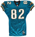 Football Collectibles:Uniforms, 2001 Jimmy Smith Jacksonville Jaguars Game Worn Jersey. ...