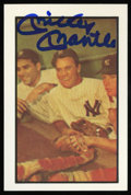 Autographs:Sports Cards, 1983 Mickey Mantle Signed Trade Card. ...