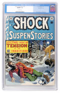 Golden Age (1938-1955):Horror, Shock SuspenStories #3 Gaines File pedigree 5/12 (EC, 1952) CGCNM/MT 9.8 Off-white pages....