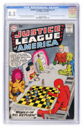 Silver Age (1956-1969):Superhero, Justice League of America #1 (DC, 1960) CGC VF+ 8.5 Light tan tooff-white pages....