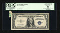Error Notes:Attached Tabs, Fr. 1614 $1 1935E Silver Certificate. PCGS Apparent About New 50.....