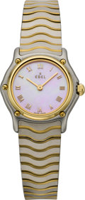 Timepieces:Wristwatch, Ebel Mini Sportswave with Pink Mother-of Pearl Dial, modern. ...