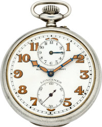 Longines Tandem Wind Alarm Pocket Watch, circa 1910