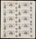 Obsoletes By State:Ohio, New London, OH- H.H. Robinson $2 (5) - $1 (5) Wolka 1869-07 UncutSheet. ...