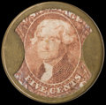 Encased Postage: , HB-75 EP-69 5¢ Burnett's Cocoaine Extremely Fine....