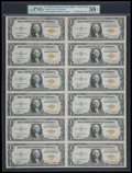 Small Size:World War II Emergency Notes, Fr. 2306 $1 1935A North Africa Silver Certificates. Uncut Sheet. PMG Choice About Unc 58 EPQ.. ...