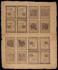 Colonial Notes:Pennsylvania, Pennsylvania April 25, 1776 Double Sheet of Sixteen....