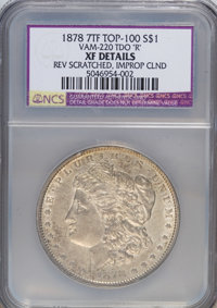"1878 7TF $1 Reverse of 1878, TDO""R""--Improperly Cleaned, Reverse Scratched--NCS. XF Details. Vam-220 Top-100..."