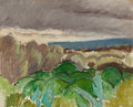 Fine Art - Painting, European:Modern  (1900 1949)  , HENRI MATISSE (French, 1869-1954). Cagnes, Paysage au TempsOrageux, 1917. Oil on artist's board. 12-7/8 x 15-7/8 inches...