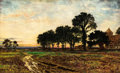 Fine Art - Painting, European:Antique  (Pre 1900), BENJAMIN WILLIAMS LEADER (British, 1831-1923). Evening After theRain, 1897. Oil on canvas. 32 x 52-1/8 inches (81.3 x 1...
