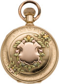 Timepieces:Pocket (pre 1900) , Elgin Multicolor Gold Pocket Watch, circa 1888. ...