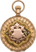 Timepieces:Pocket (pre 1900) , Waltham Gold Multicolor with Diamond, circa 1888. ...