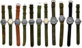 Timepieces:Wristwatch, Lot of Eleven Military Wristwatches, circa 1920's to 1990's. ... (Total: 11 Items)