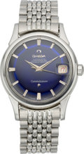 "Timepieces:Wristwatch, Omega Constellation with Blue ""Pie Pan"" Dial, circa 1960. ..."
