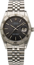 "Timepieces:Wristwatch, Rolex Ref. 1625 Steel Oyster Perpetual with ""Thunderbird"" Bezel, circa 1969. ..."