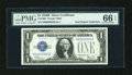 Small Size:Silver Certificates, Fr. 1602 $1 1928B Silver Certificate with Serial Number 999. PMG Gem Uncirculated 66 EPQ.. ...